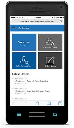 DataFlex Mobile Touch application