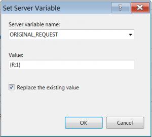 Set Server Variable dialog